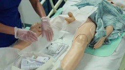 Male Catheter Insertion Medical Procedure