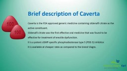 Order Caverta 100mg online from best generic medicine online pharmacy portal