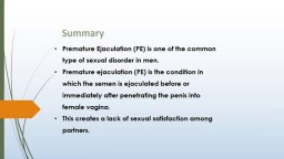 Prejac  Treats early Ejaculation issues