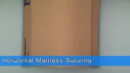 Horizontal Mattress Suturing