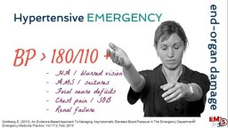 Hypertensive Emergency Treatment!
