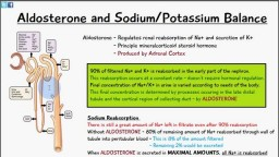 Aldosterone: Sodium and Potassium Balance