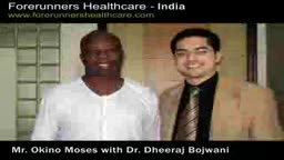 Okino Mosses from Nigeria recovers from nerve decompression after his Lumber spine decompression surgery at Mumbai in In