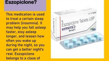 Order Eszopiclone Online Medicine From Mygenrixrx site