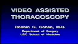 Video-Assisted Thoracoscopy