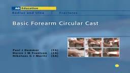 Basic Forearm Circular Cast