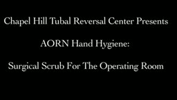 Surgical Scrub For The Operating RoomSurgical Scrub For The Operating Room