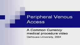 Peripheral venous access