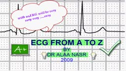 A to Z in ecg arabic lesson 1