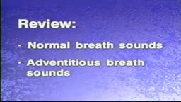 Normal and Adventitious Breath Sounds