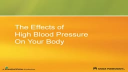 High Blood Pressure Body Effects