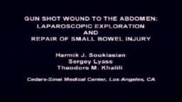 Laparoscopy Gunshot Wound to Abdomen