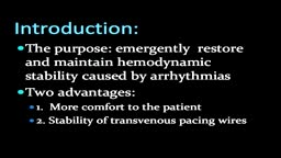 Insertion of Transvenous Pacemaker