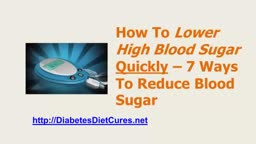 Lower High Blood Sugar
