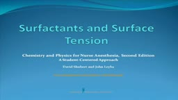 Surfactants and Surface Tension