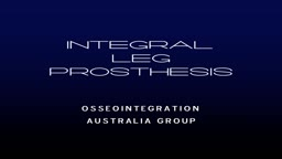 Integral Leg Prosthesis System - 3D Overview