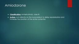 Amiodarone uses